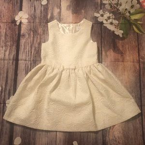{CHILDREN'S PLACE} gold & cream toddler dress